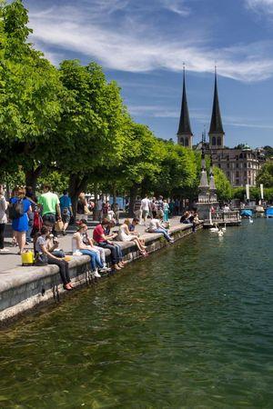 Lakeside promenade Lucerne