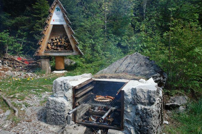 Alpboden barbecue spot, Wolfenschiessen