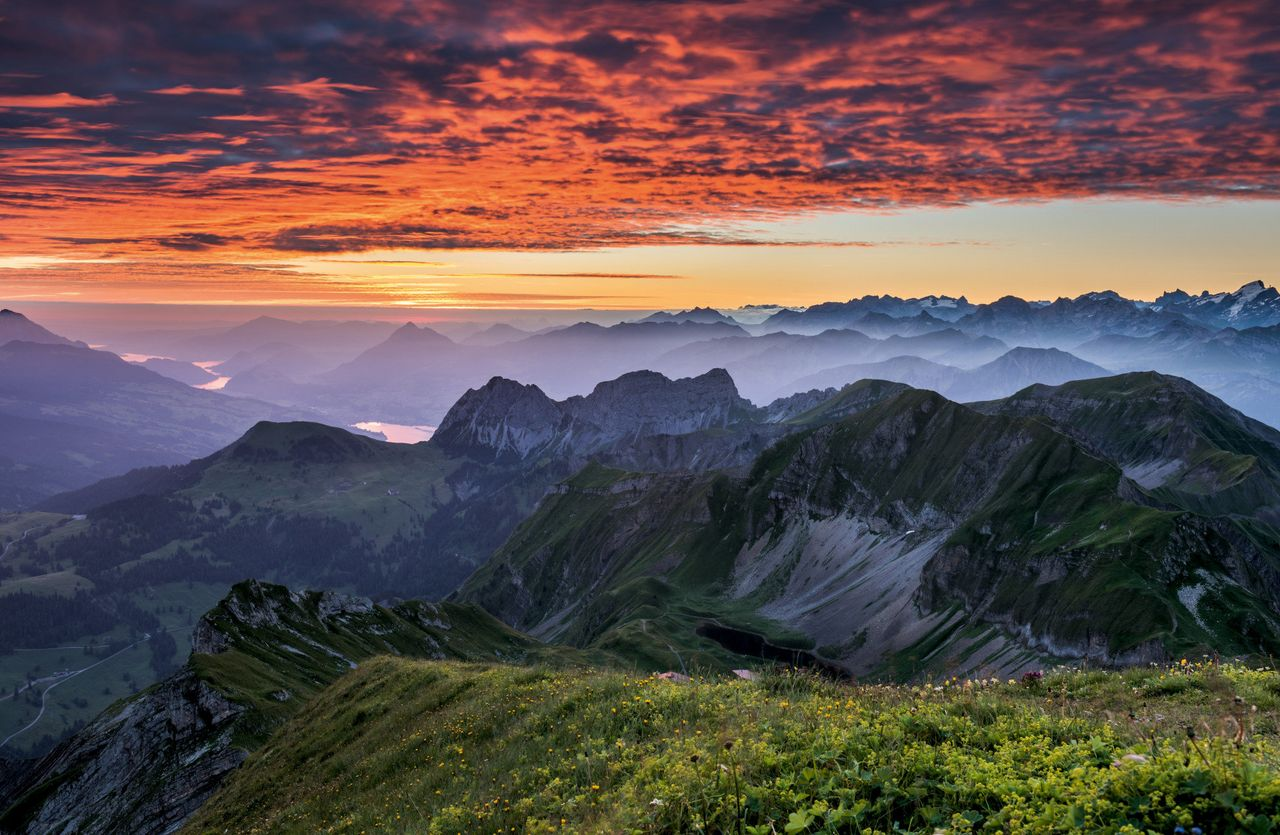 Top five sunrise locations in central Switzerland