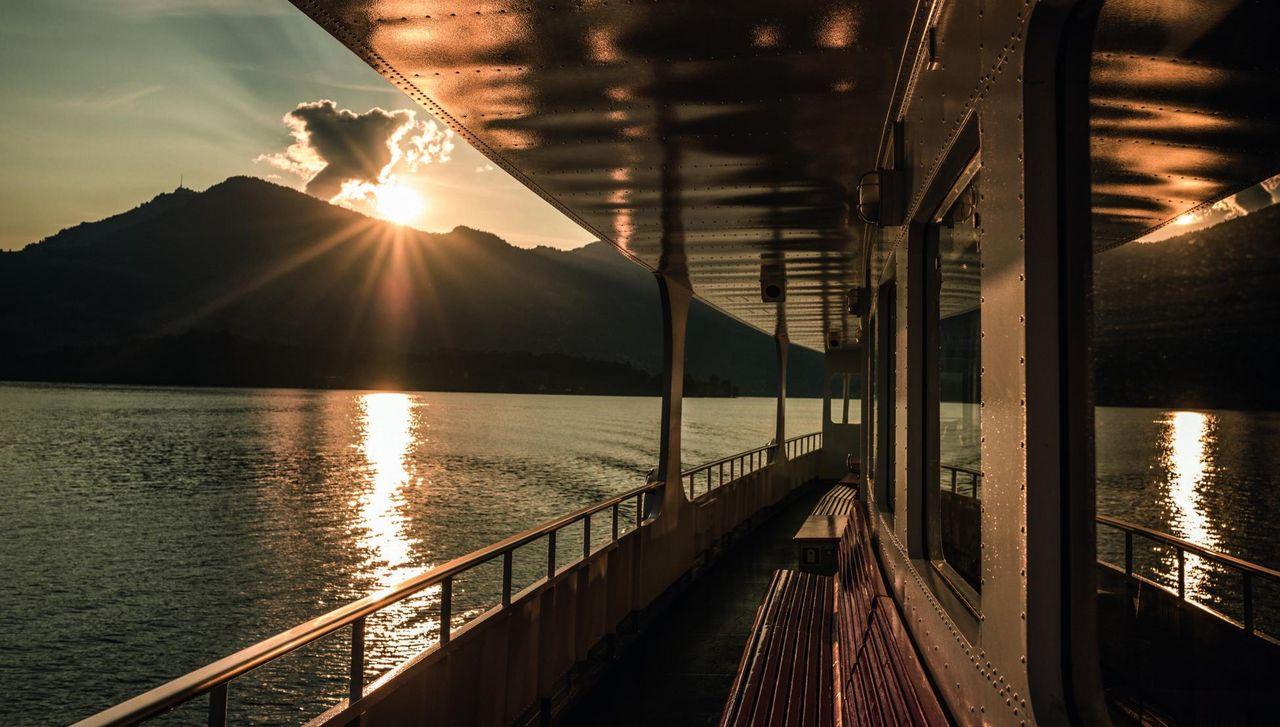 Sonnenaufgangsfahrt von Luzern nach Weggis