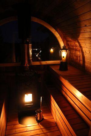 Oberiberg: Nach der Wanderung in die Alpenfass-Sauna