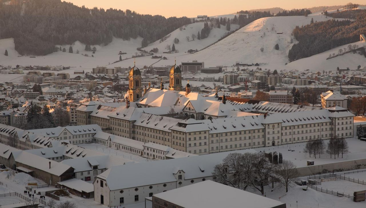 Kloster Einsiedeln im Winter