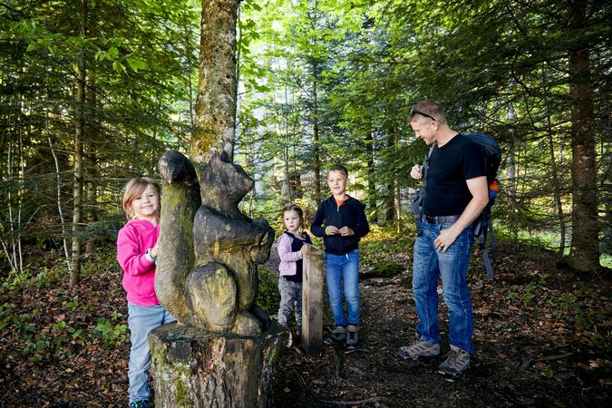 Wurzilla fairytale trail - get to know the firtree root child