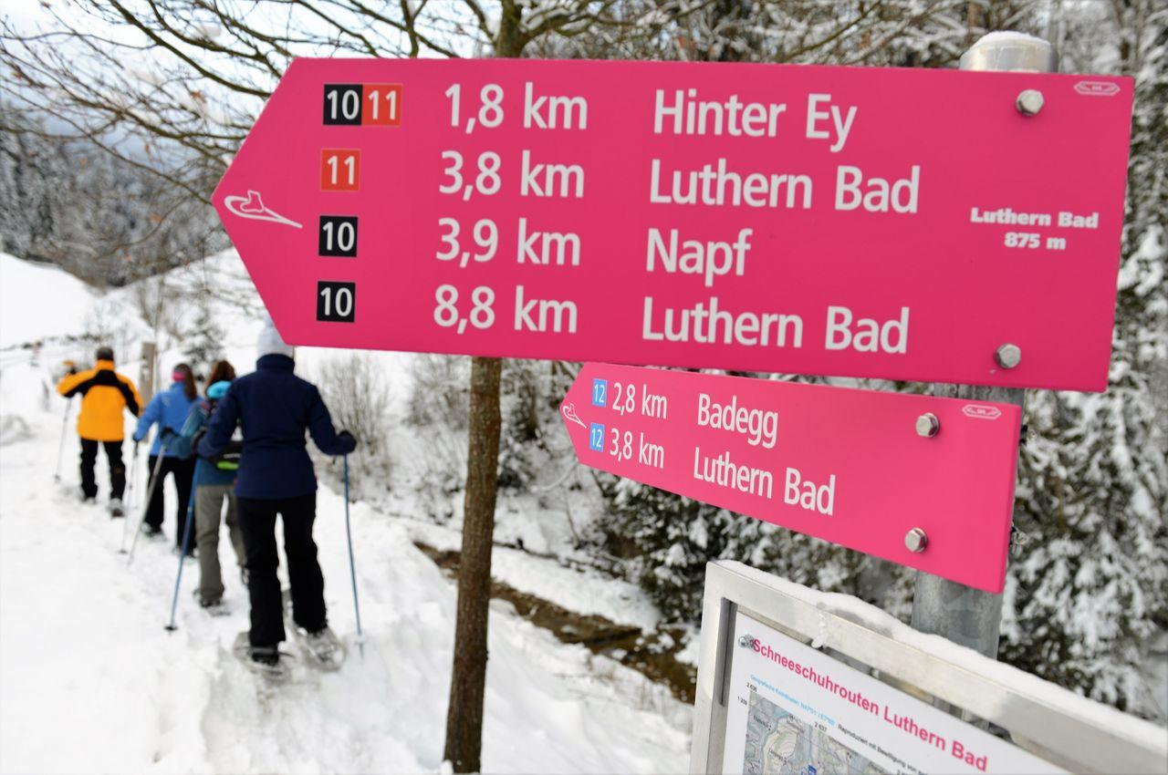 Schneeschuh Tour von  Luthern Bad auf den Napf