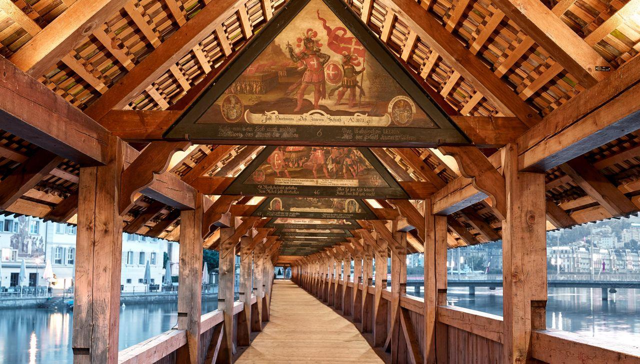 Innenansicht Kapellbrücke