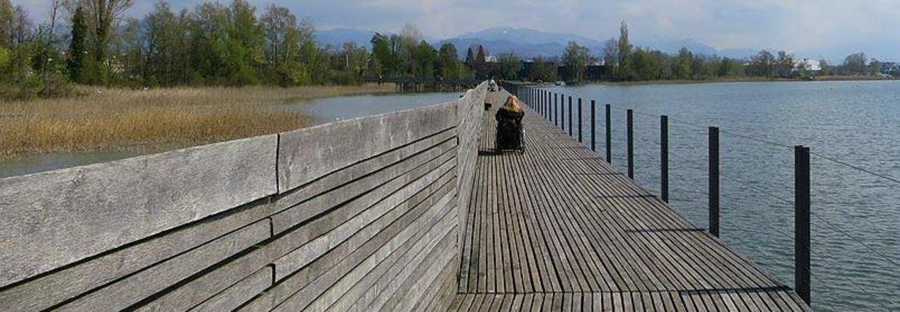 Holzbrücke Seedamm-Weg, Pfäffikon SZ - Rapperswil SG