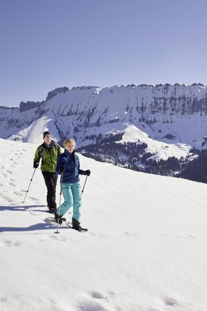 Snowshoe tour through the UNESCO Biosphere