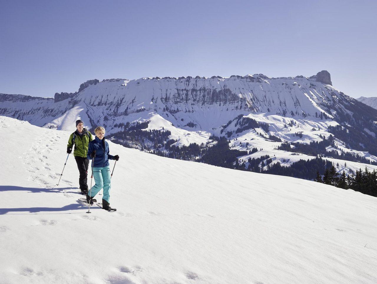 Snowshoe tour through the UNESCO Biosphere