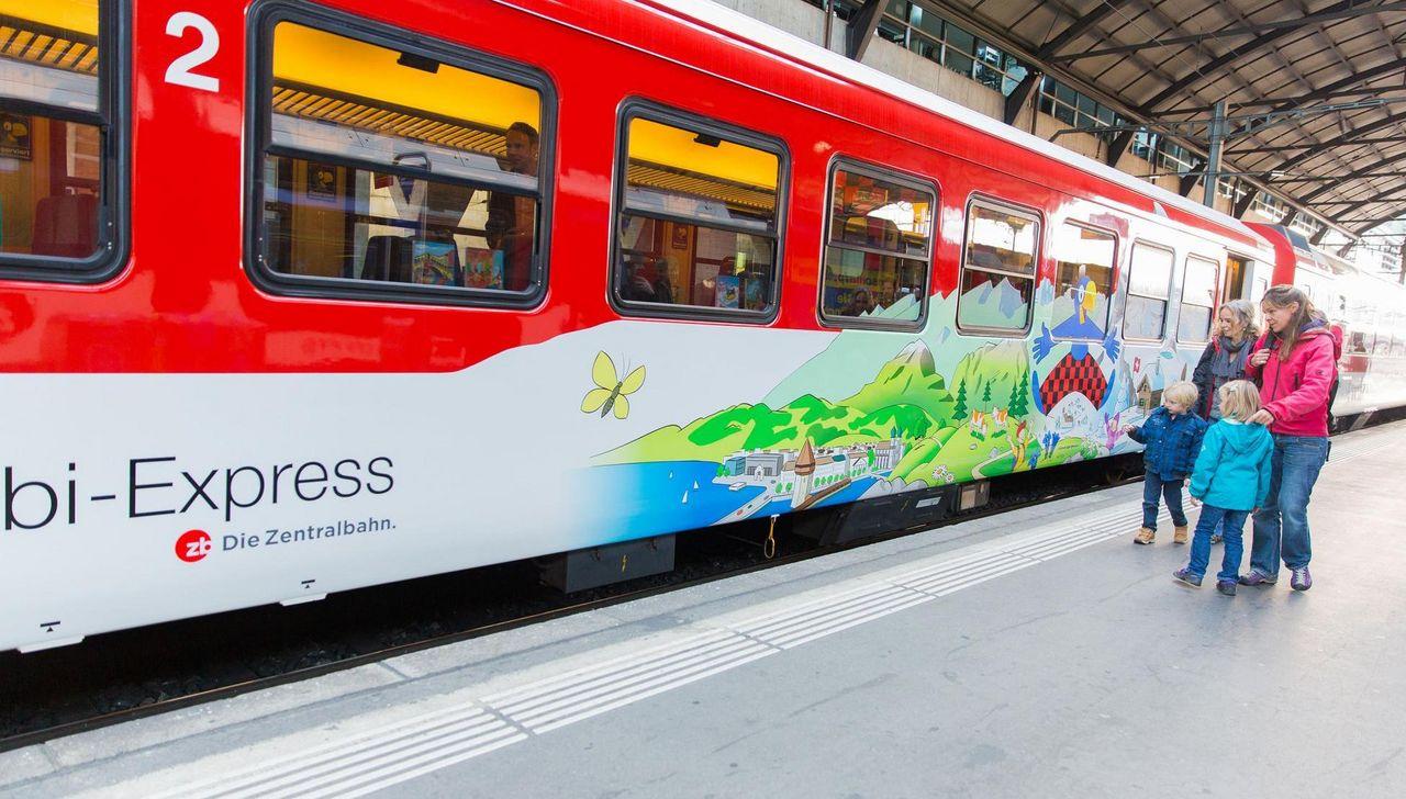 With Globi Between Lucerne And Engelberg
