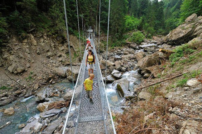 Parcours découverte des gorges de l'Aa à Engelberg