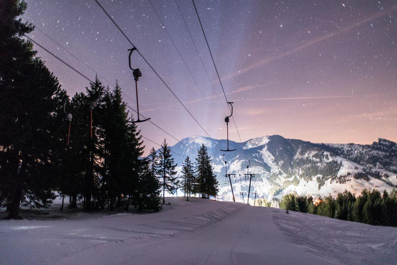 Skifahren unterm Sternenhimmel