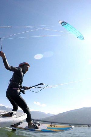 Kitesurfen auf dem Sihlsee