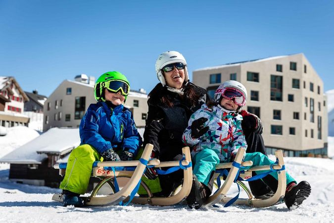 Central Switzerland's longest sledge run