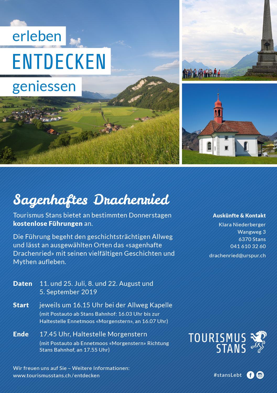 Sagenhaftes Drachenried - kostenlose Führungen im Sommer 2019