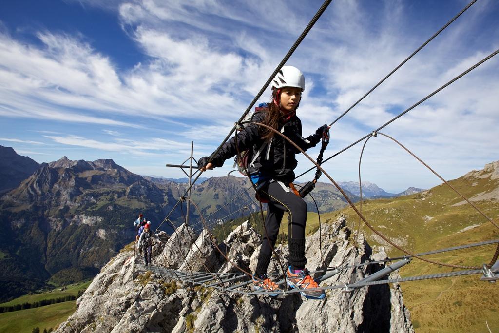 Der Brunnistöckli Klettersteig über Engelberg/Titlis
