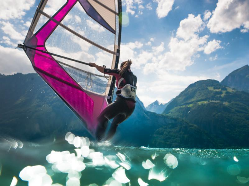 Windsurfing, Lake Uri
