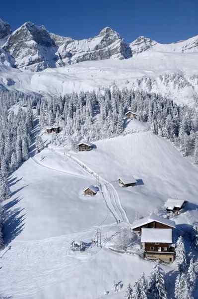 Skigebiet Brüsti